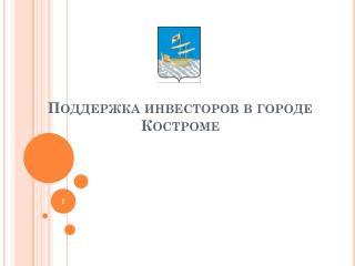 Поддержка инвесторов в городе Костроме