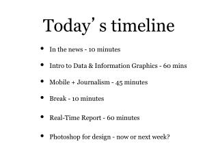 Today � s timeline