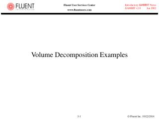 Volume Decomposition Examples