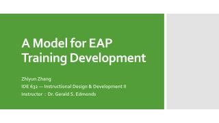 A Model for EAP Training Development