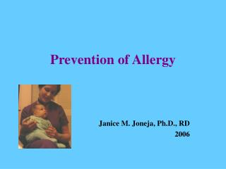 Prevention of Allergy
