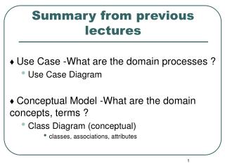 ♦  Use  Case -What are the domain processes ? Use Case Diagram