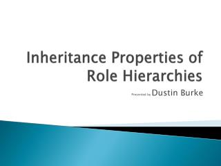 Inheritance Properties of Role Hierarchies