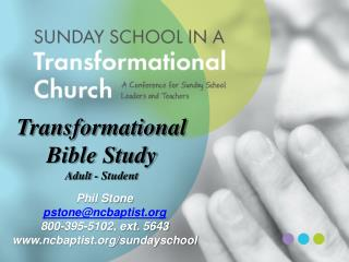 Transformational Bible Study Adult - Student