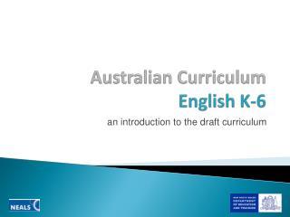 Australian Curriculum  English K-6
