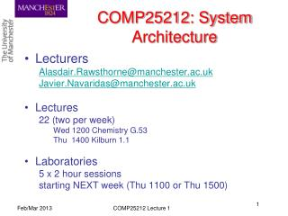 COMP25212: System Architecture