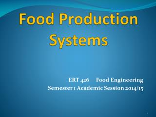 Food Production Systems