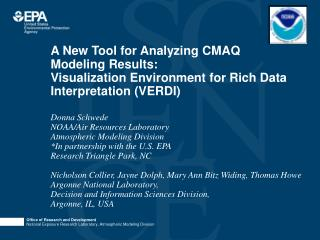 A New Tool for Analyzing CMAQ Modeling Results:  Visualization Environment for Rich Data Interpretation VERDI