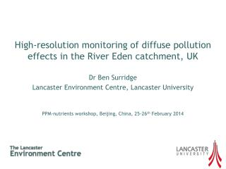 High-resolution monitoring of diffuse pollution effects in the River Eden catchment, UK