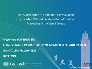 Self-Organization in a Parametrically Coupled Logistic Map Network: A Model for Information