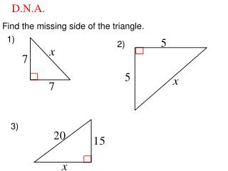 Find the missing side of the triangle.
