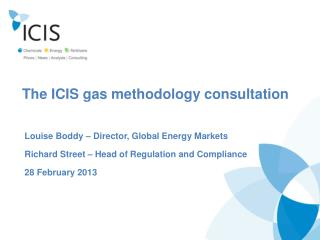 The ICIS gas methodology consultation