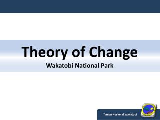 Theory of Change Wakatobi  National Park