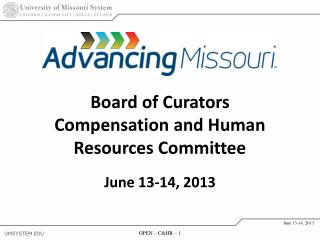 Board of Curators Compensation and Human Resources Committee