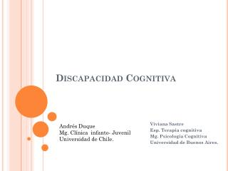 Discapacidad Cognitiva