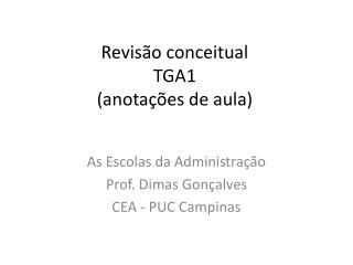 Revisão conceitual TGA1 (anotações de aula)