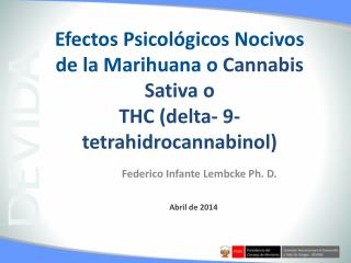 Federico Infante Lembcke  Ph . D.