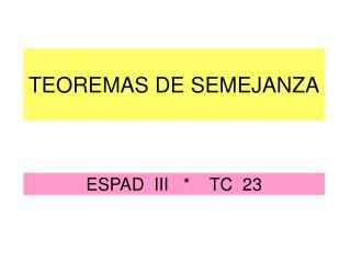 ESPAD  III   *    TC  23