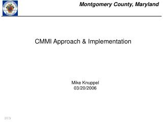 CMMI Approach & Implementation