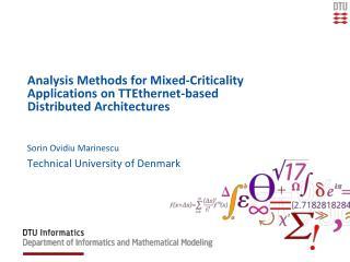 Sorin Ovidiu Marinescu Technical University of Denmark