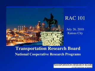 Transportation Research Board  National Cooperative Research Programs