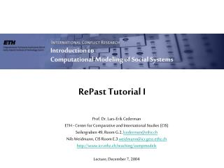 RePast Tutorial I