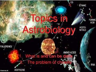 Topics in Astrobiology