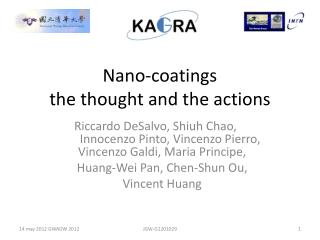 Nano-coatings the thought and the actions