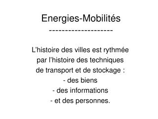 Energies-Mobilités --------------------