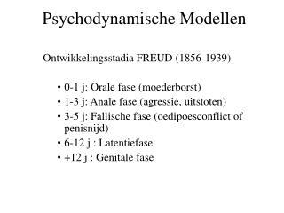 Psychodynamische Modellen