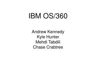 IBM OS/360