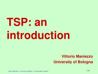 TSP: an introduction