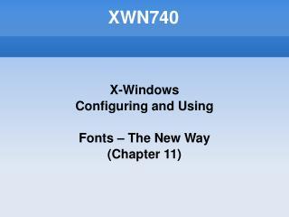 XWN740