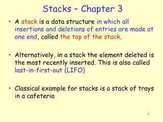 Stacks – Chapter 3