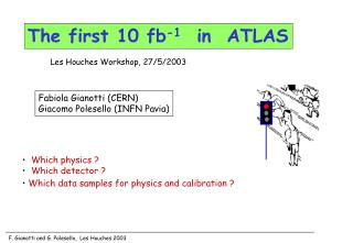 The first 10 fb -1    in  ATLAS
