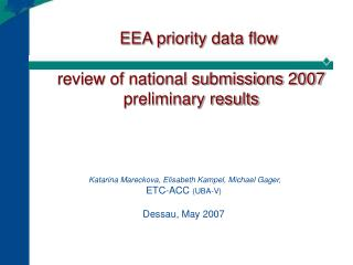 EEA priority data flow   review of national submissions 2007 preliminary results