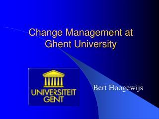 Change Management at Ghent University