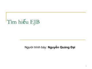Tìm hiểu EJB