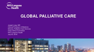 Diabetes and Palliative Care