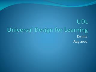 UDL Universal Design for Learning