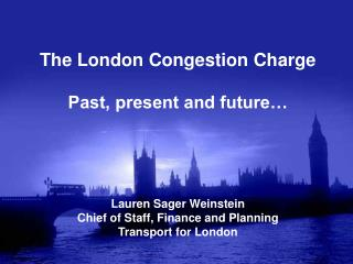 Congestion in central London: the context