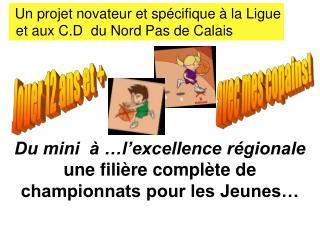 Du mini  à …l'excellence régionale une filière complète de championnats pour les Jeunes…