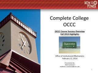 Complete College OCCC