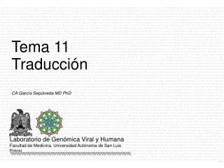 CA Garc�a Sep�lveda MD PhD