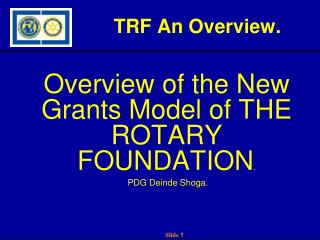 TRF An Overview.