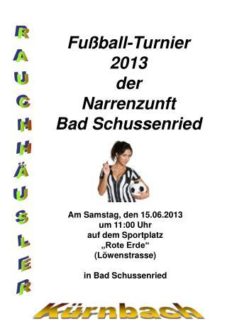 Fußball-Turnier 2013  der Narrenzunft Bad Schussenried