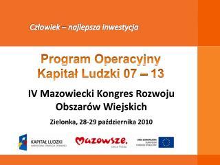IV Mazowiecki  Kongres Rozwoju  Obszarów Wiejskich Zielonka, 28-29 października 2010