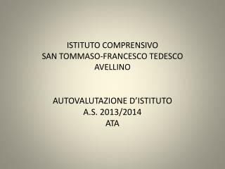 ISTITUTO COMPRENSIVO SAN TOMMASO-FRANCESCO TEDESCO AVELLINO