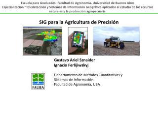 SIG para la Agricultura de Precisión