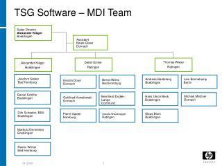 TSG Software – MDI Team